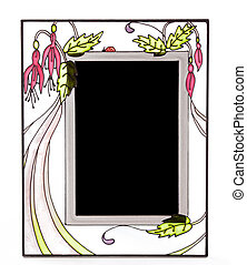 Ornate stained glass picture frame