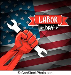 Usa labor day vector background. vector happy labor day...