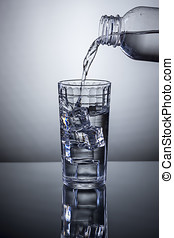 Pouring refreshing water.