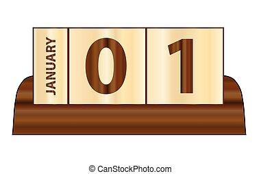 Wooden Blocks Calender - A typical wooden cube day and month...