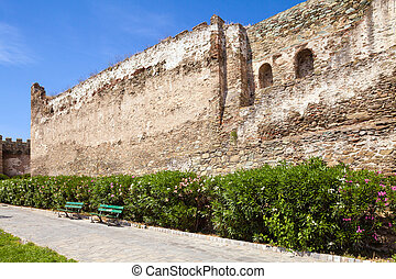 Section of the ancient Walls of Thessaloniki, Greece