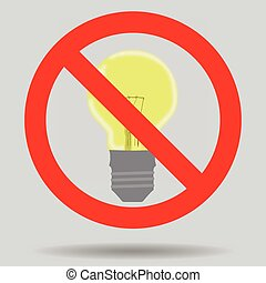 Sign off the light to save electricity
