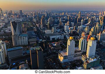Aerial view Bangkok city