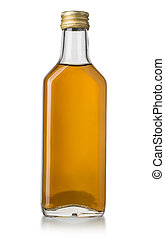 whiskey bottle isolated over a whte background with clipping...