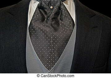 Silver Silk - Tuxedo with silk cravat