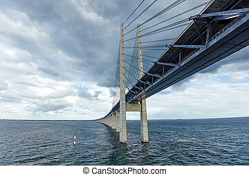 The bridge Oresundsbron - The bridge between Denmark and...