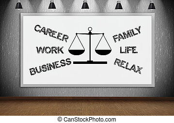 drawing choose between career and family