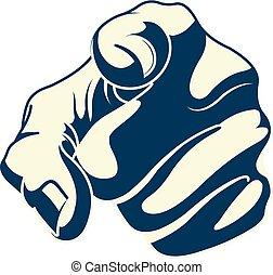 Pointing forefinger
