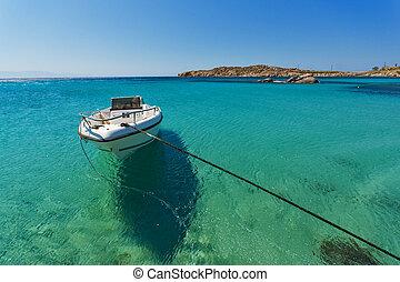 Paranga Beach on Mykonos - Clean Waters of Paranga Beach on...