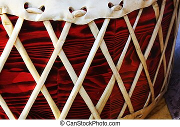 Drum at Pow wow festival - A close up of a drum at a pow wow...