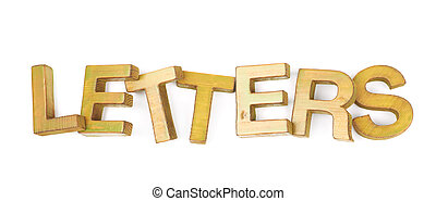 Word made of wooden letters isolated - Word Letters made of...