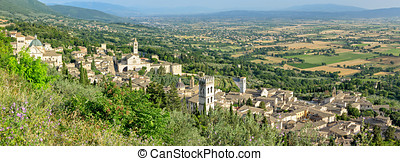 Assisi Umbria high definition panorama