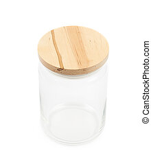 Glass kitchen jar isolated