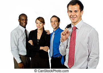 Group of Professionals - An attractive caucasian businessman...