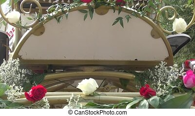 Ornament wedding carriages - Details of the decoration...
