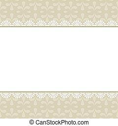 Elegant vintage frame with damask pattern