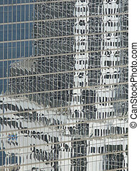 Glass Facade - Glass facade of an office building in...
