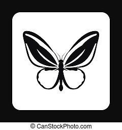 Little butterfly icon, simple style