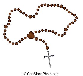 The Rosary Beads - Catholic rosary beads with a silver cross...