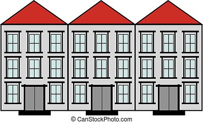 Houses vector icons set.