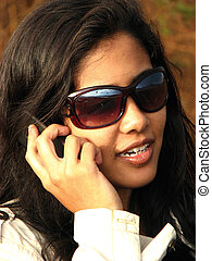 Indian Lady on Phone