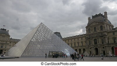 Main courtyard of the Louvre Palace, Paris - PARIS, FRANCE -...