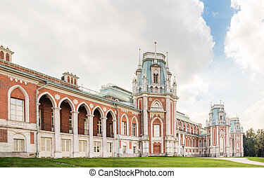 Grand Tsaritsyno palace - North view of the Grand palace in...