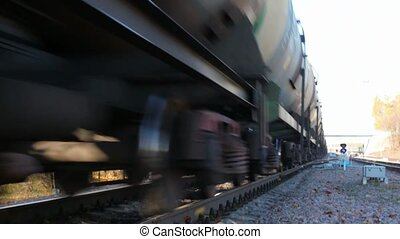 train goes by the shaking camera