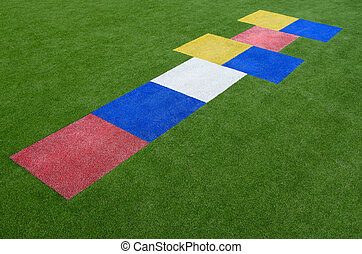 Colorful hopscotch children's playground game - Colorful...