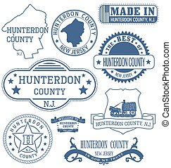 Hunterdon county, NJ, generic stamps and signs - Hunterdon...