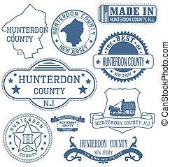 Hunterdon county, NJ, generic stamps and signs - Hunterdon...