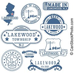 Lakewood township, NJ, generic stamps and signs - Lakewood...