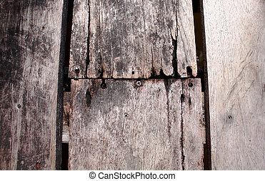 close up rotten wood floor texture background