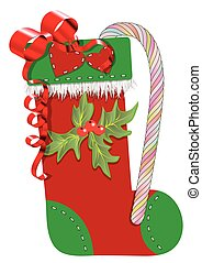 christmas stocking isolated on a white background