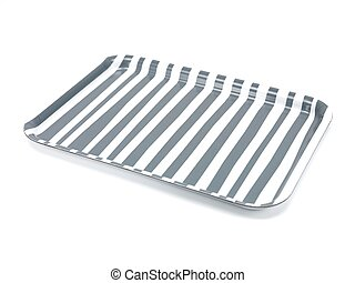 Serving Tray - A serving tray isolated against a white...