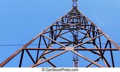 electricity pylon, vertical panning