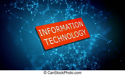 Information technology concept on computer display with...