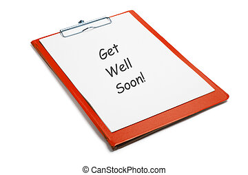 Get Well Soon Message on Clipboard