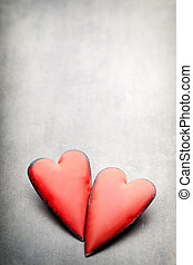 Valentines day hearts. Valentine day greating card.