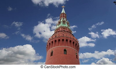View of the Kremlin-- Russia,Moscow - View of the Kremlin--...