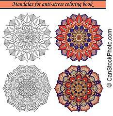 Mandalas for Anti-Stress Coloring Book 2 - Mandalas for...