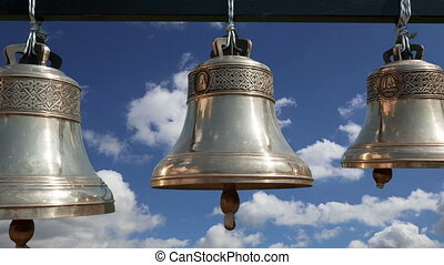 Orthodox bells. New Jerusalem in town Istra, surroundings of...