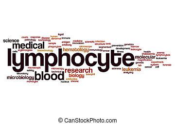 Lymphocyte word cloud concept