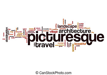 Picturesque word cloud concept