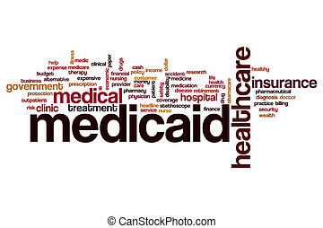Medicaid word cloud concept