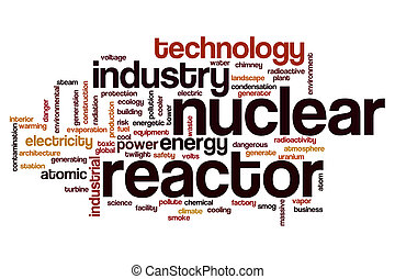 Nuclear reactor word cloud concept