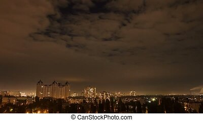 Timelapse cityscape night time at colorful style - Timelapse...