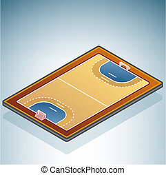 Handball Field (part of the 3D Isometric Objects Icons Set)