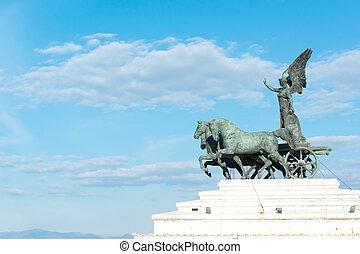 Quadriga dellUnita statue - Quadriga dellUnita of Altare...
