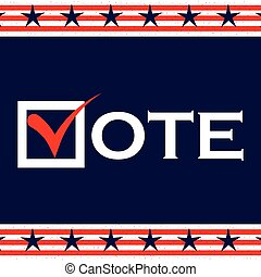 US 2016 Presidential Election background. Voting poster. US...